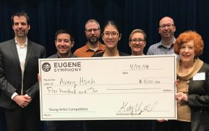Avery Hsieh wins first place junior division in Eugene Symphony Guild Young Artist Competition