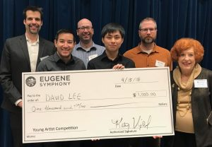 David Lee wins first prize, senior division, Eugene Symphony Guild Young Artist Competition